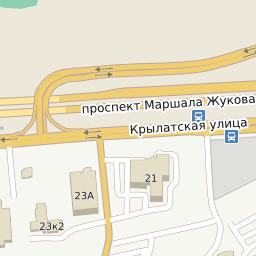 Ул Крылатская, Москва — Почтовые индексы на карте